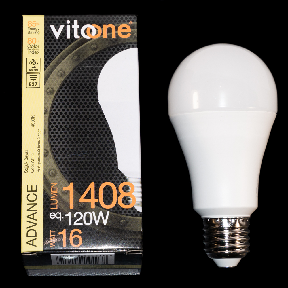 Лампа LED VITOONE ADVANCE A62 16W E27 4000K 1517220