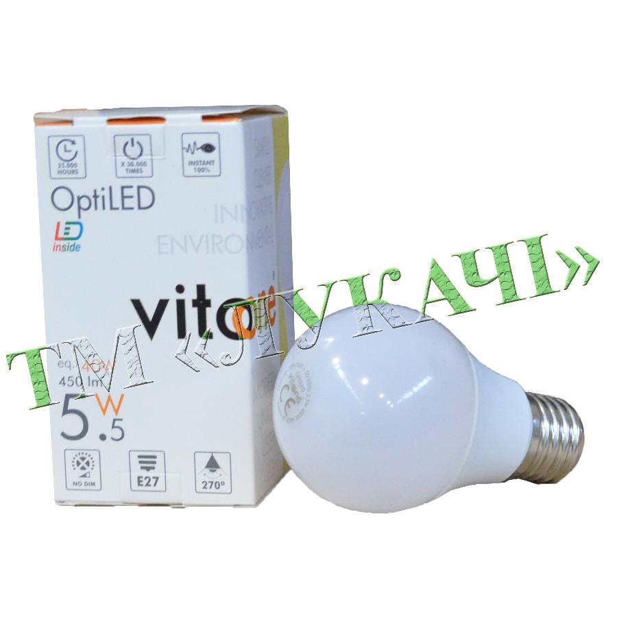 Лампа LED VITOONE A60 10W E27 4000K Optiled 1500540/1500542
