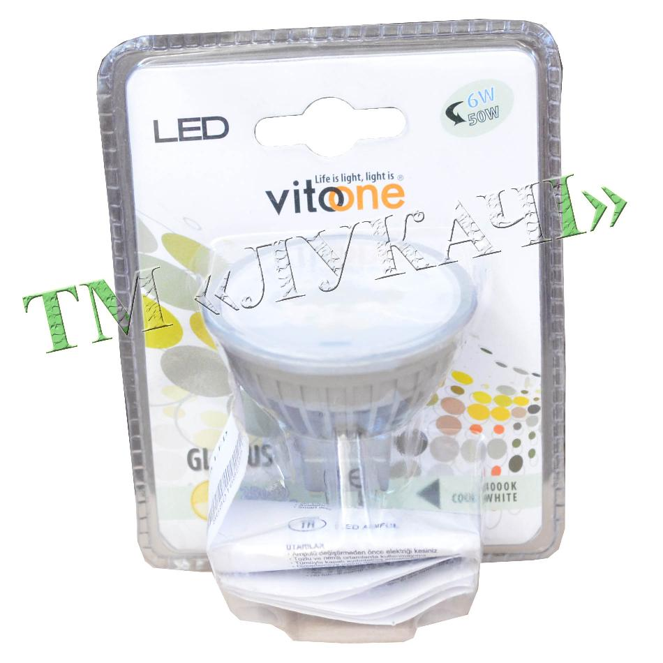 Лампа LED VITOONE MR16 6W G5.3 220V 4000K 1511951 (1511060) 1512700