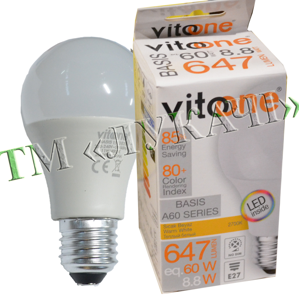 Лампа LED VITOONE BASIS A60 8,8W E27 2700K Optiled 1513920